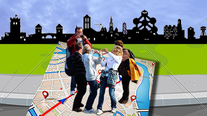 A city game with smartphone as a team building activity